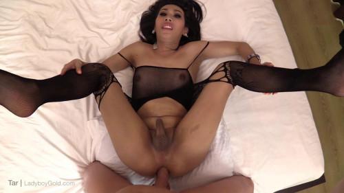 Tar  Big Dick Sex in Black Lingerie Bodysuit
