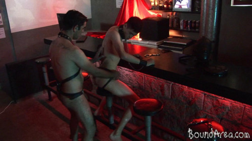 Collared Twink-Pup Fucked Down His Throat And Ass Gay BDSM