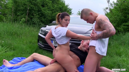 Horny Mixed Trio Pumping Their Asses Bisexual