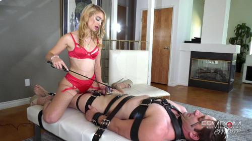Anastasia Knight - Chastity Piggy Femdom and Strapon