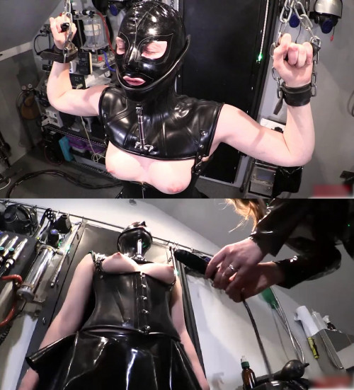 Bondage, domination and torture for sexy bitch in latex part 1