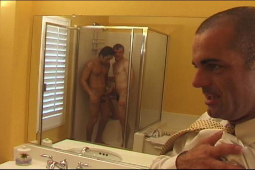 Hardcore Gay Anal Threesome In Shower