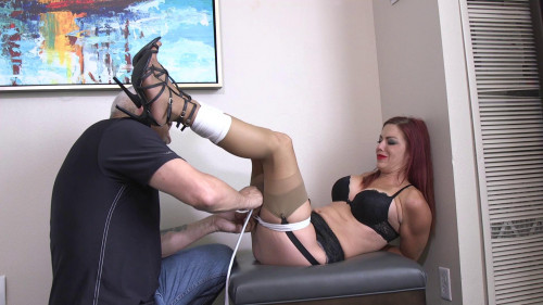 Sarah Brooke-Tied tight and Oh My Gosh! I am gagged!