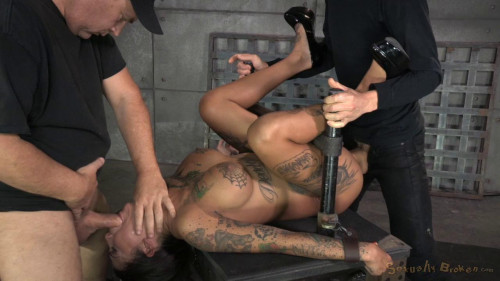 winner Bonnie Rotten shackled in strict device bondage BDSM
