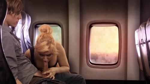 Airplane Handjob MILF Sex
