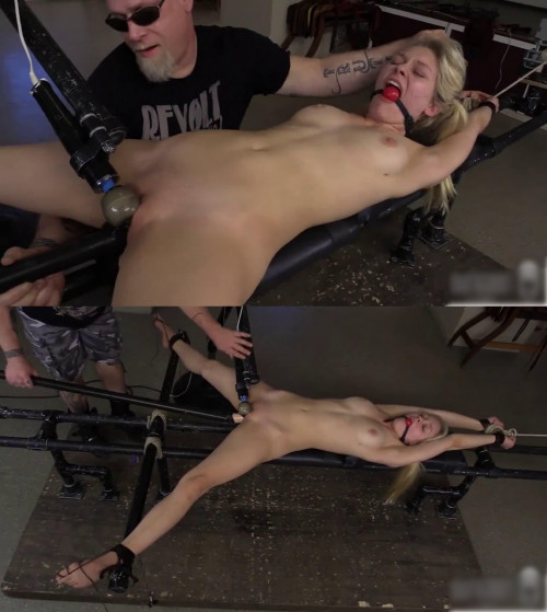 Bondage, domination, spanking and torture for young blonde (part4) BDSM