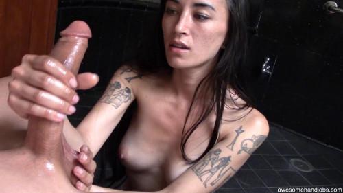 sexy loving sweetheart makes Handjob