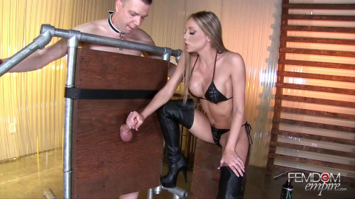 Extreme Edging Femdom and Strapon