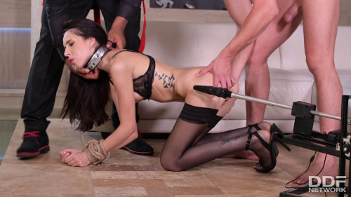 Alyssa Bounty - Hardcore DOMINANCE AND SUBMISSION Interracial DOUBLE PENETRATION With Submissive Slave