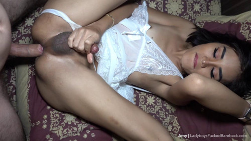 Amy - Double Reinsert Creampie All Star Transsexual