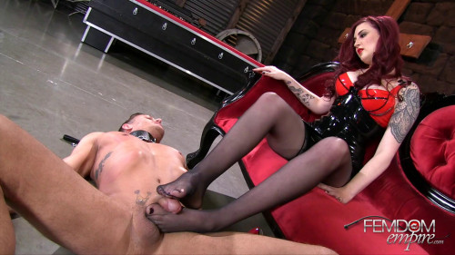 Sweaty Feet Gagging Femdom and Strapon