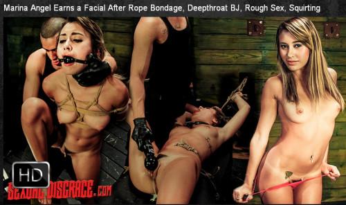 SexualDisgrace - Jun 11, 2015 - Marina Angel Earns a Facial After Rope Bondage
