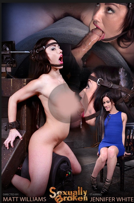 SexuallyBroken - Mar 20, 2015	Jennifer White shackled on sybian and bound in theblowjob machine