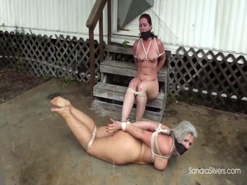 Sandra Silvers Fayth Pair Bound Gagged Captives Marched Outside (2015)