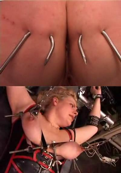 Metal hooks in the ass