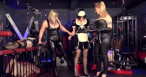 Dungeon Maids Femdom and Strapon