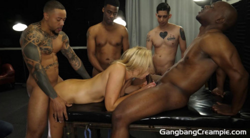 Busty Sophia West First Time GangBanged With 5 Creampies