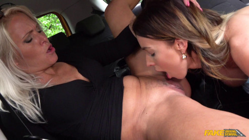 Emily Bright, Kathy Anderson - Learner licks wet pussy for license (2019)