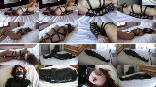 Tight bondage and hogtie for hot slavegirl with beautiful tits
