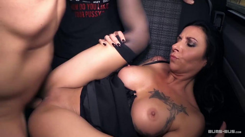 Mature German girl Lady Paris gets fucked in the backseat of a van
