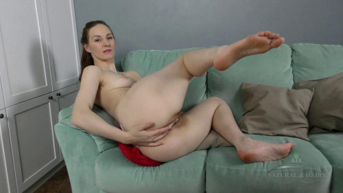 Ariadna Moon - Redhead rubs her hairy pussy in a variety of positions