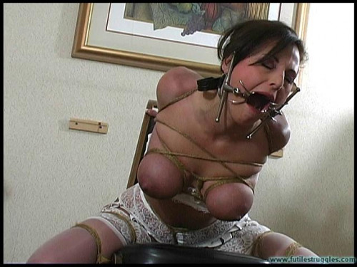 Lola Lynn Strips and is ChairTied - Scene 2