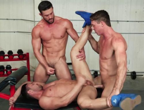 Sweaty Muscle Studs Bareback