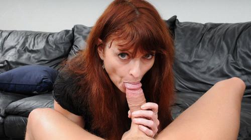 Kelly Nichols - Mature Redhead Chokes on Cock (2017) MILF Sex