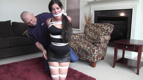 Summer Peters-Tied up and gagged way beyond her limits