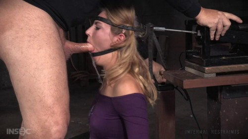 Mona Wales get the BaRS experience on the blowjob machine and a sybian