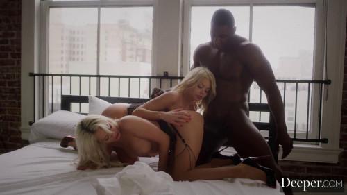 Elsa Jean & Riley Steele - Body Double Interracial Sex