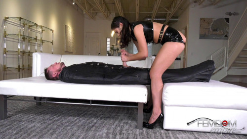 Ruined Gimp Balls Femdom and Strapon