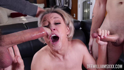 Dee Williams in Double Cock Gag fest! - UltraHD 2160p Oral Sex