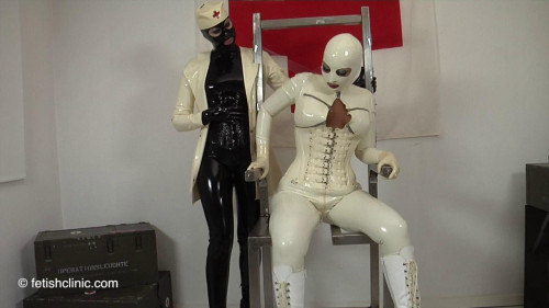 Electrostim in the Metallic Chair - Anna Rose and Valentina Pt FIRST