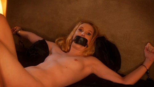 Super restraint bondage and domination for very lustful undressed golden-haired Full HD 1080p