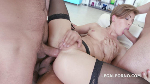 Monsters gangbang with double anal fuck