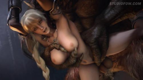 Sophitia vs the Minotaur 3D Porno