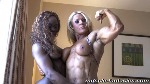 Angel Curvz & Lisa Cross Female Muscle