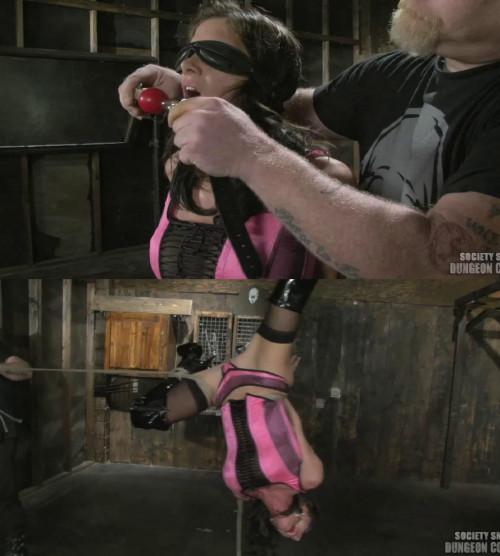 Bondage, hogtie, strappado and torture for sexy slavegirl part 1