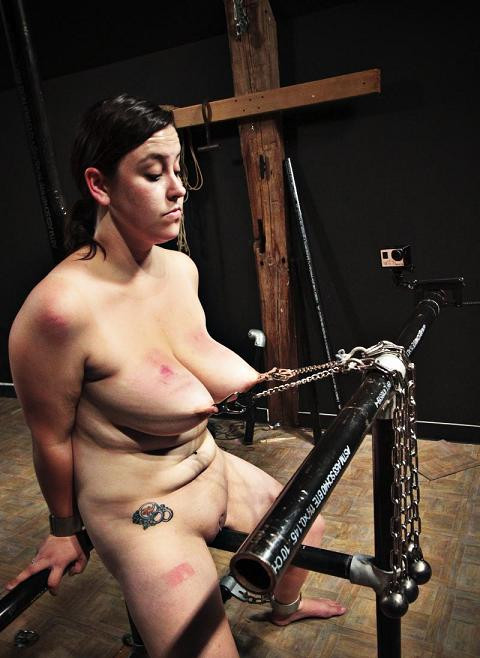 Soft body in hard BDSM.