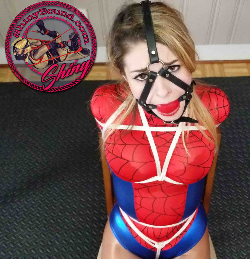 ShinyB - Aubree Lane.. Spidergirl Unmasked BDSM