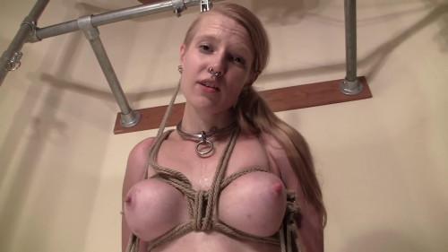Constricted restraint bondage, suspension and soreness for undressed slavegirl Full HD 1080p