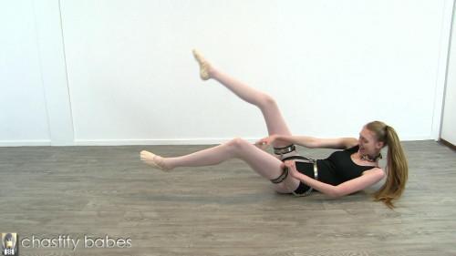 Cassie – ballet girl in thigh bands BDSM