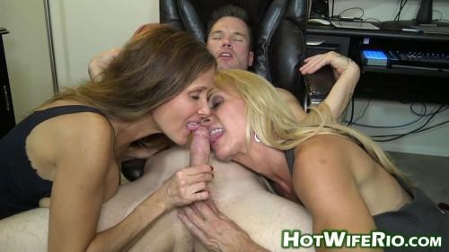 Horny Milfs Sharing Cock MILF Sex