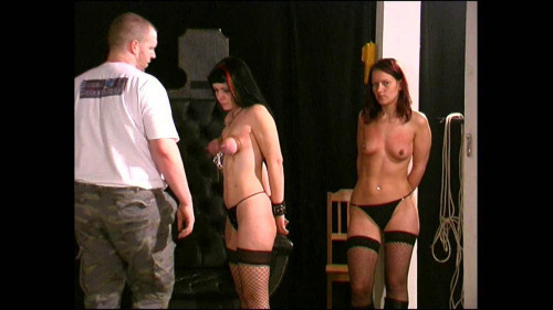 Breast Punishment Lesson for Yvette and Dominika BDSM