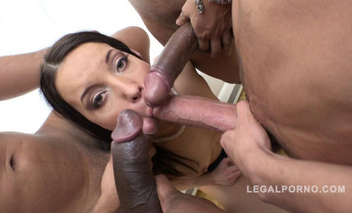 4on1 double anal orgy with piss & DP