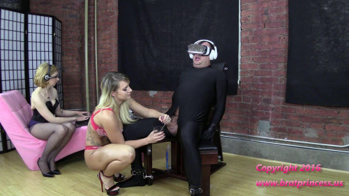 Cali and Lola-Ruined Four Times and Fed Cum while Under Voice Control Femdom and Strapon