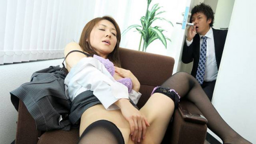 Office lady mao saitou watched whilst gratifying her vagina