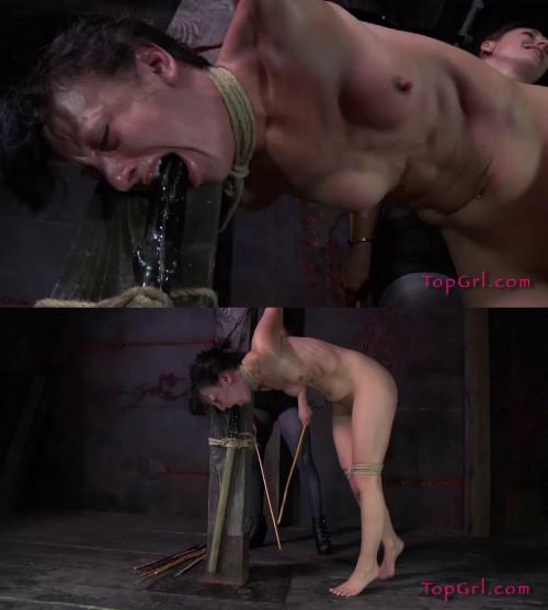 Hard bondage, suspension and torture for naked slavegirl part 2