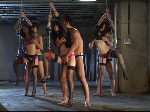 Bursting Tits Triple Assault Gang Asians BDSM